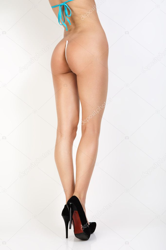 Legs in black shoes.  Foto Stock #11417239