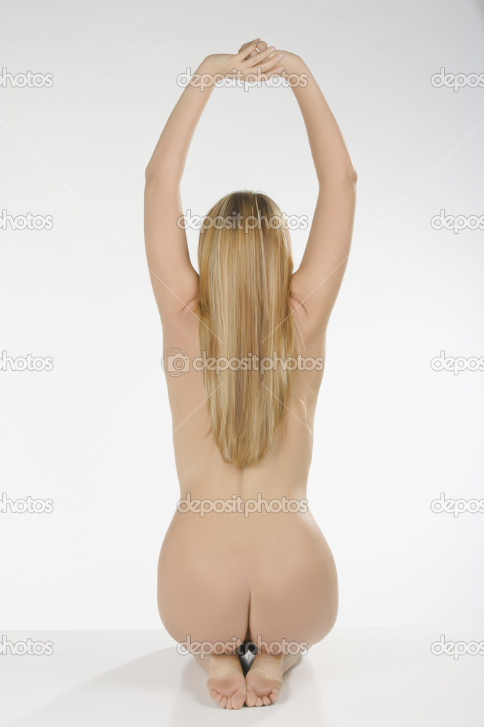Blonde woman whit bare back — Stock Photo #11247108