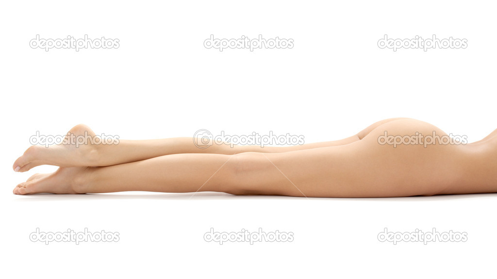 Long legs of relaxed lady over white — Stock Photo #11764729