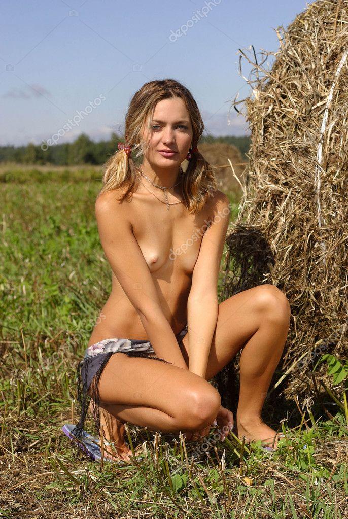 Beautiful Nude Girl Stockfoto Aleander Lobanov