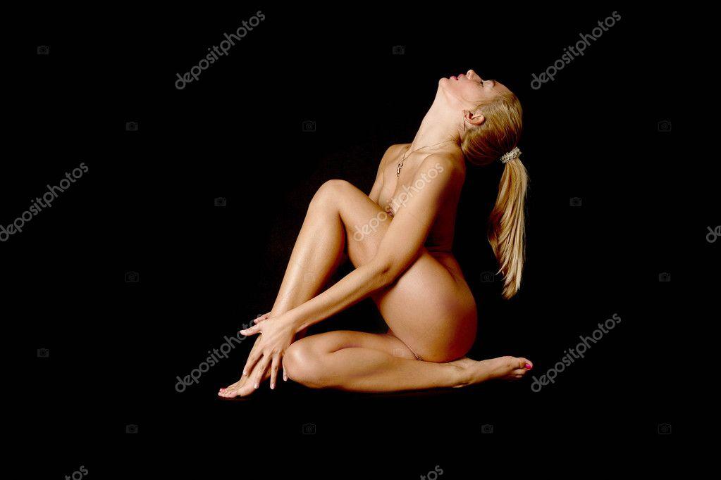 Nude Babe Stock Showing Martial Arts Aleander Lobanov
