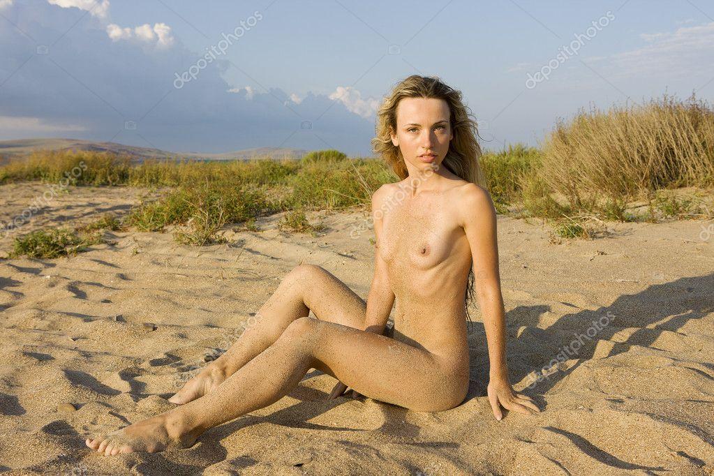 Naked Girl The Snow Stockfoto Aleander Lobanov Rainpow Filmvz