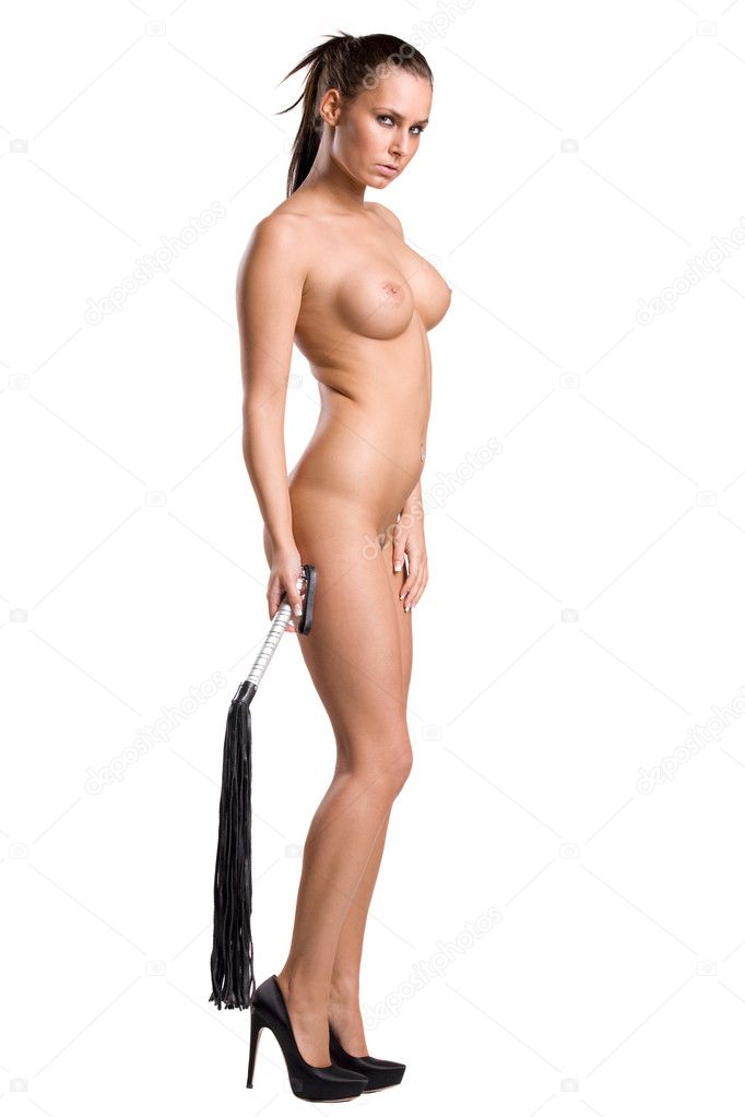 Naked Woman Holding Whip