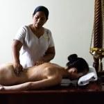 Ayurvedic massage care — Stock Photo